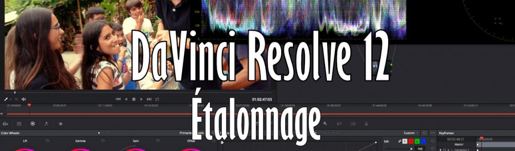 resolve étalonnage